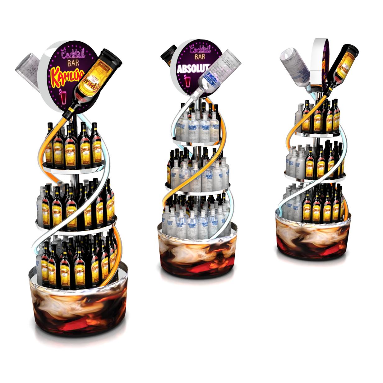 Cocktail Bar Displays